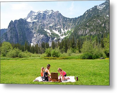 Mountain Picnic Metal Print by Kelly Reber