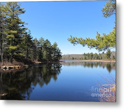 Mountain Pond - Pocono Mountains Metal Print