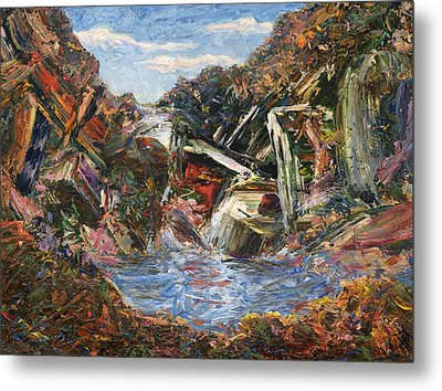 Mountain Pool Metal Print by James W Johnson