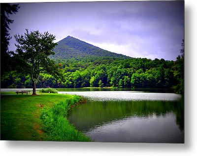 Mountain Reflection Metal Print by Gail Butler