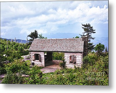 Mountain Rest Stop Metal Print