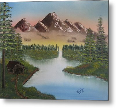 Mountain Retreat Metal Print by Kimber  Butler