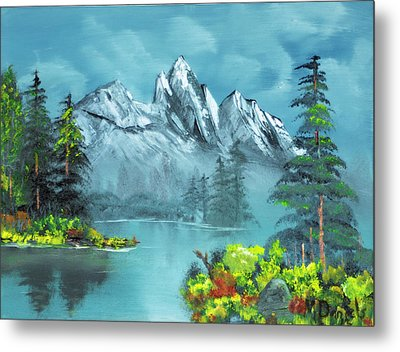 Mountain Retreat Metal Print