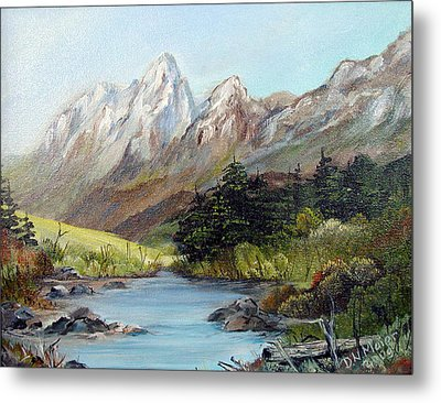 Mountain River Metal Print by Dorothy Maier