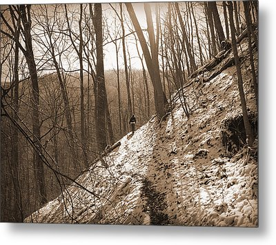 Mountain Side Metal Print by Melinda Fawver