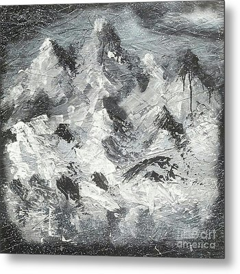Mountain Snow Life Metal Print