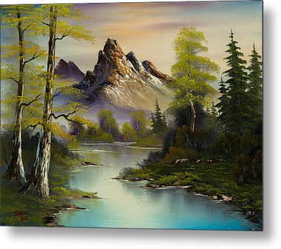 Mountain Evening Metal Print by C Steele