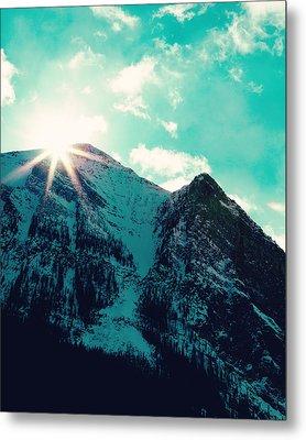 Mountain Starburst Metal Print by Kim Fearheiley