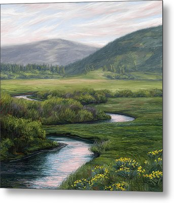 Mountain Stream 1 Metal Print by Lucie Bilodeau