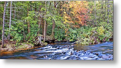 Metal Print featuring the photograph Mountain Stream In Autumn Pocono Mountains Pennsylvania by A Gurmankin