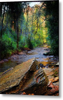 Mountain Stream N.c. Metal Print by Bob Pardue