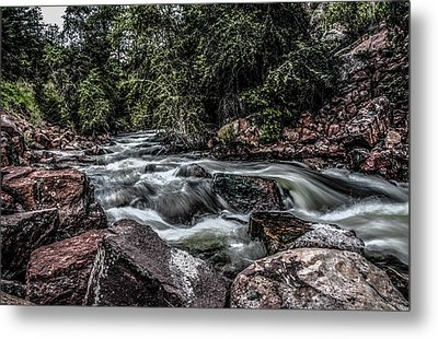 Mountain Stream Metal Print by Ray Congrove
