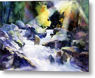 Mountain Stream Metal Print by Tom Poole