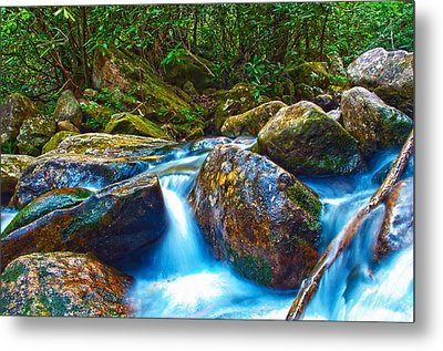 Metal Print featuring the photograph Mountain Streams by Alex Grichenko