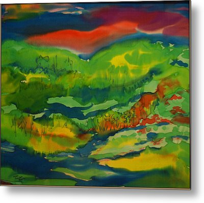 Metal Print featuring the painting Mountain Streams by Susan D Moody