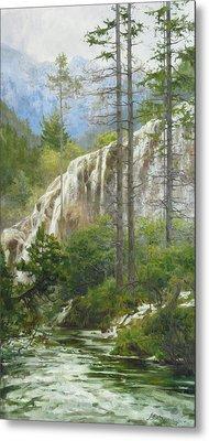 Mountain Streams Metal Print by Victoria Kharchenko