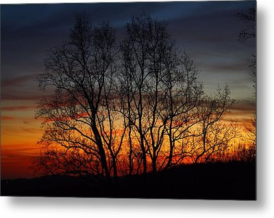 Metal Print featuring the photograph Mountain Sunset by Kathryn Meyer