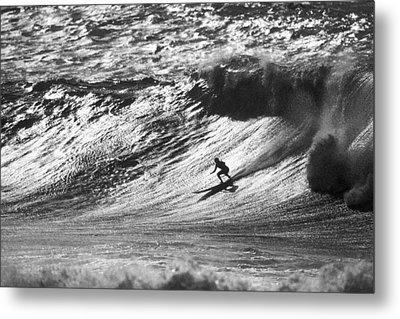 Mountain Surfer Metal Print by Sean Davey