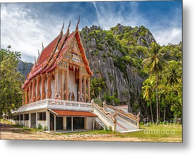 Mountain Temple Metal Print by Adrian Evans