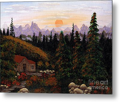 Mountain View Metal Print by Barbara Griffin