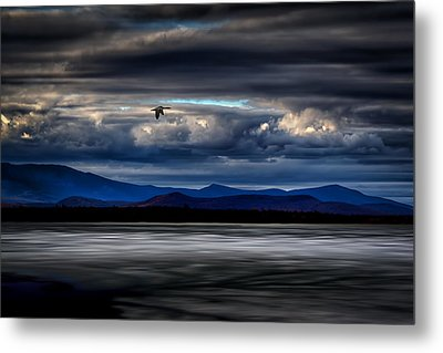 Mountain View - Mt. Katahdin Metal Print by Gary Smith