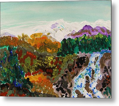 Mountain Water Metal Print by Mary Carol Williams
