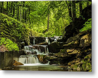Mountain Waterfall Metal Print by Jaroslaw Grudzinski