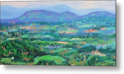 Mountains And Valleys- Summertime Along The Blue Ridge Parkway Metal Print
