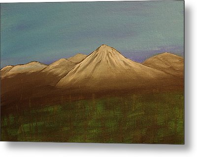 Mountains In The Mists Metal Print by Keith Nichols