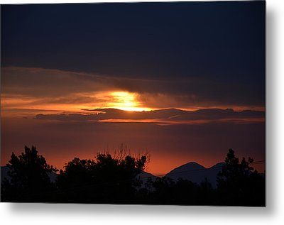 Mountains In The Sky Metal Print by Tom Mansfield