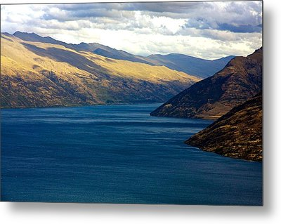 Mountains Meet Lake #2 Metal Print by Stuart Litoff