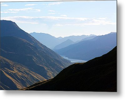 Metal Print featuring the photograph Mountains Meet Lake #3 by Stuart Litoff