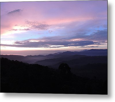Mountains Meet Sea Metal Print by Gregory Young