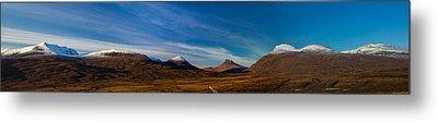 Mountains Of Assynt Panorama Metal Print by Derek Beattie