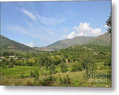 Metal Print featuring the photograph Mountains Sky And Clouds Swat Valley Pakistan by Imran Ahmed