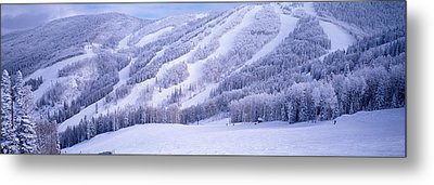 Mountains, Snow, Steamboat Springs Metal Print