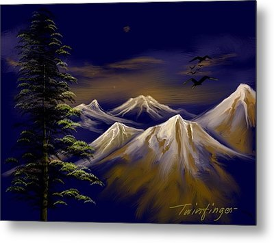 Mountains Metal Print by Twinfinger