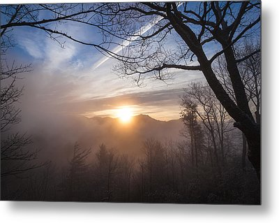 Mountaintop Sunrise Metal Print by Maria Robinson