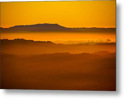 Mountaintop Sunset Metal Print by Michael Courtney
