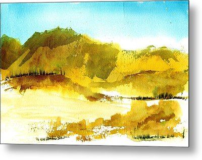 Mountan Desert Metal Print by Anne Duke