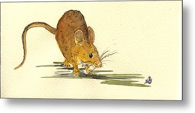 Mouse Metal Print by Juan  Bosco