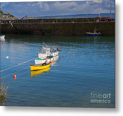 Mousehole Cornwall Metal Print by Louise Heusinkveld