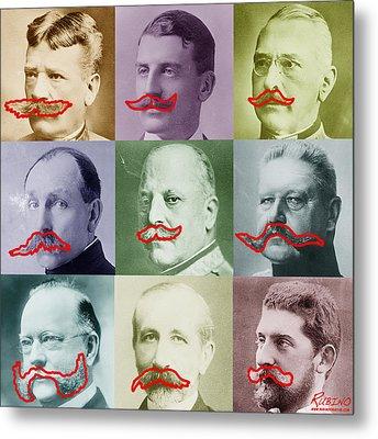 Moustaches Metal Print by Tony Rubino