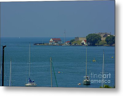 Metal Print featuring the photograph Mouth Of The Niagara River by Jim Lepard