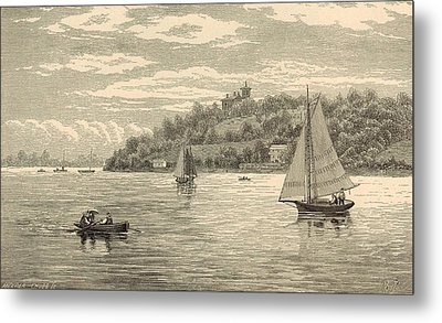 Mouth Of The Shrewsbury River 1872 Engraving Metal Print by Antique Engravings