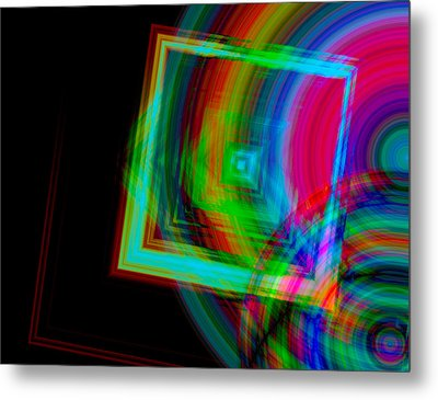 Movement Mingling With Color Metal Print by Teri Schuster