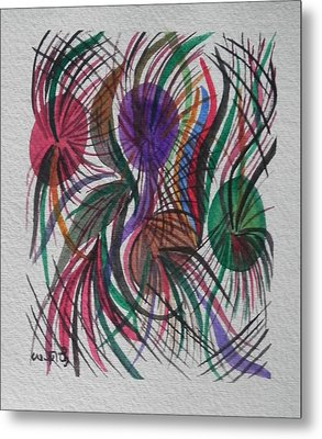 Movement Metal Print by Usha Rai