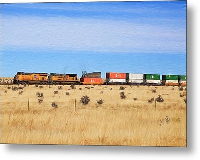 Moving America Across The Heartland Metal Print by Donna Kennedy