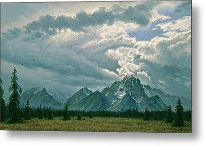 Moving Clouds-mount Moran Metal Print by Paul Krapf