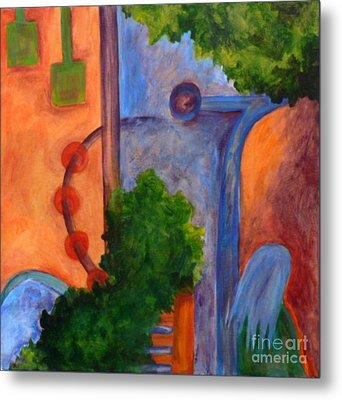 Metal Print featuring the painting Moving On- Caprian Beauty Series 2 by Elizabeth Fontaine-Barr